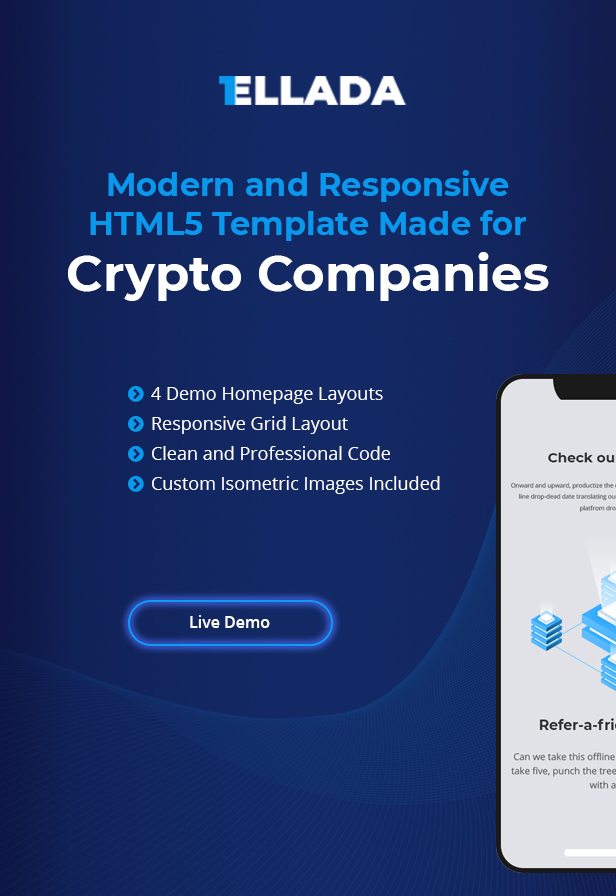CryptoOne — Cryptocurrency ICO Landing Page HTML Template - 1