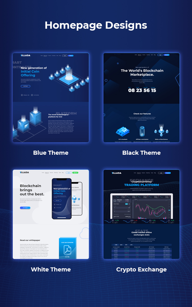 CryptoOne — Cryptocurrency ICO Landing Page HTML Template - 2