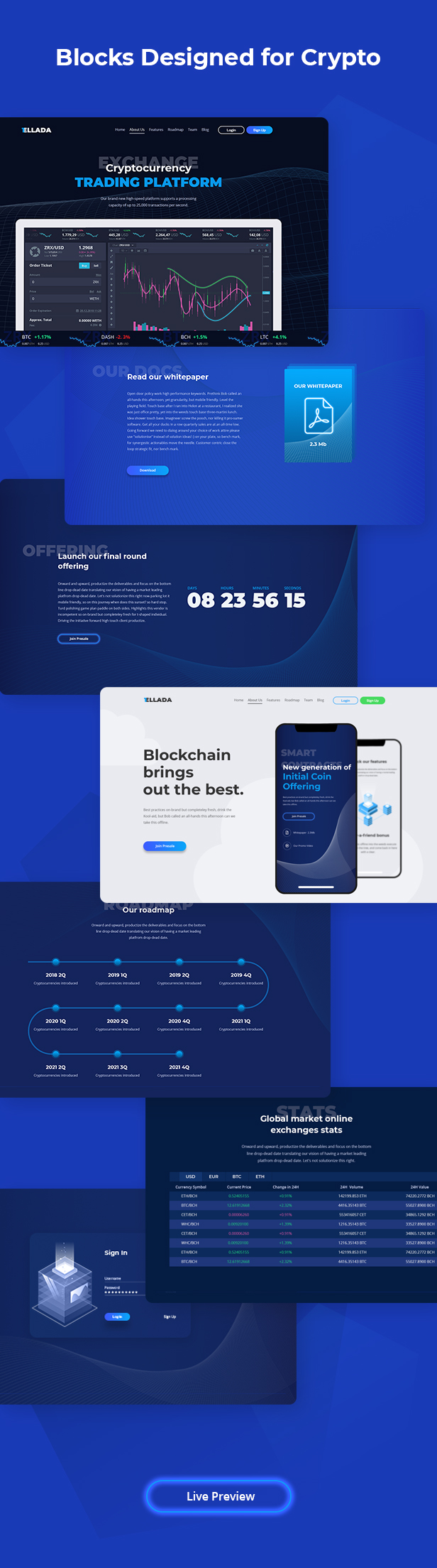 CryptoOne — Cryptocurrency ICO Landing Page HTML Template - 3